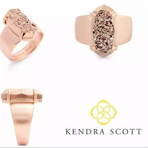 New KENDRA SCOTT Harrison Cocktail Ring sz 8
